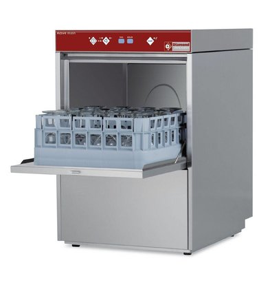 Diamond Gläserspülmaschine 40x40cm | 465x550x(h)710mm | Enthärter | Einschubhöhe 280mm