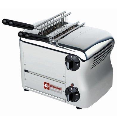 Diamond Toaster 2 Zangen | Timer mit Warnsignal | 1000W | 317x220x(h)210mm
