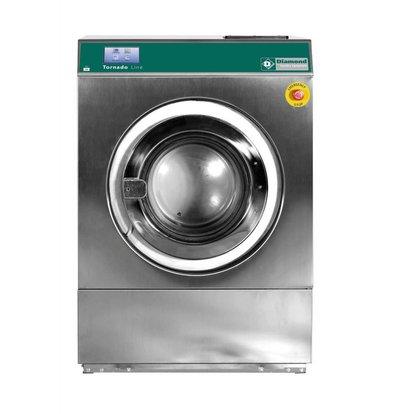 Diamond Hotel Waschmaschine 14kg | Hochtourig | Edelstahl | 400V | 880x1010x(h)1264mm