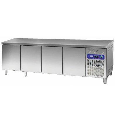 Diamond Kühltisch Edelstahl | 4 Türen | 760 Liter | 2542x800x(h)900mm