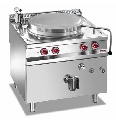 Diamond Elektro-Kochkessel | Edelstahl | 100 Liter | Indirekt Beheizt | 14,4kW | 800x900x(h)850-920mm