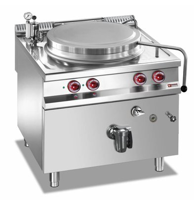 Diamond Elektro-Kochkessel | Edelstahl | 150 Liter | Indirekt Beheizt | 14,4kW | 800x900x(h)850-920mm