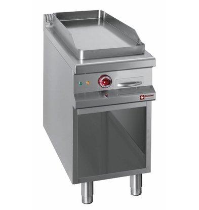 Diamond Elektro-Grillplatte | glatt | 400V | Modul 1/2 | mit Unterbau | 400x900x(h)850-920mm