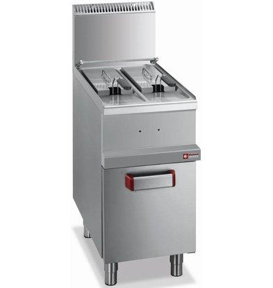 Diamond Gas-Friteuse | 2x7 Liter | 11kW | mit Unterbau | 400x700x(h)850-1170mm