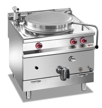Diamond Gas-Kochkessel | Edelstahl | 100 Liter | Indirekt Beheizt | 800x900x(h)850-920mm