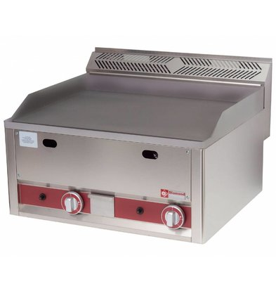 Diamond Gas-Grillplatte | glatt | 8kW | 660x600x(h)290mm