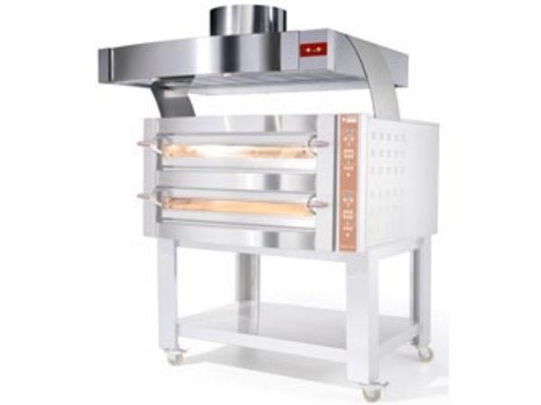 Diamond Abzugshaube für Pizzaofen | Edelstahl | mit Motor | 4 & 8 Pizzen | 1200x870x(h)500mm