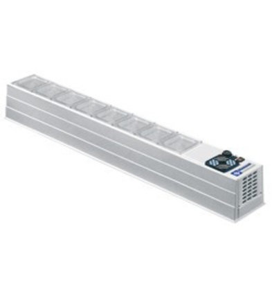 Diamond Aufsatzkühlvitrine | 4x 1/3 GN | 8x 1/6 GN | 1720x230x(h)220mm