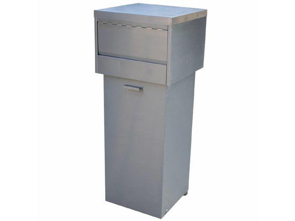 Diamond Abfallbehälter Snacking | Edelstahl | 80 Liter | 470x470x(h)1200mm