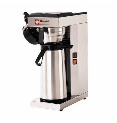 Diamond Kaffeemaschinen | 1 Kessel | Thermoskanne | 2,5 Liter | 2,2kW | 205x360x(h)545mm