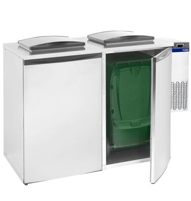 Diamond Gekühlter Abfallbehälter | Doppelt | 1460x870x(h)1290mm