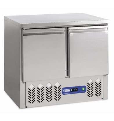 Diamond Kühltisch   Edelstahl   2 Türen   240 Liter   900x700x(h)870-890mm