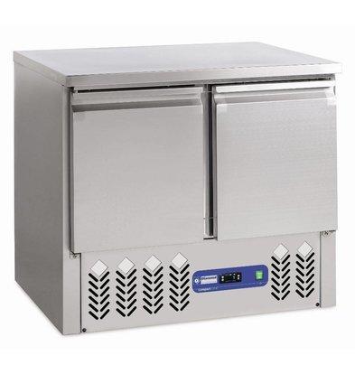 Diamond Tiefkühltisch | Edelstahl | 2 Türen | 240 Liter | 950x700x(h)850-870mm