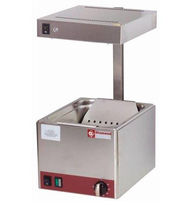 Diamond Pommes Wärmer | Infrarot | 1/2GN | 270x330x(h)500mm