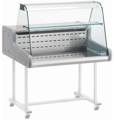 Diamond Kühltheke | Temperatur: +4°C/+6°C | gebogene Glasscheibe | 1000x930x(h)660mm