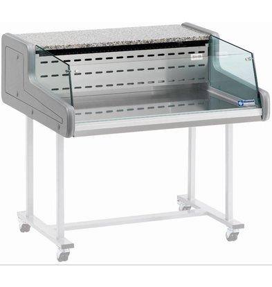 Diamond Kühltheke | Temperatur: +4°C/+6°C | Glasscheibe für Selbstbedienung | 1000x930x(h)345mm