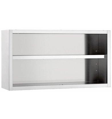 Diamond Wandhängeschrank | Edelstahl | Zwischenböden | 600x400x600x(h)mm | Erhältlich in 4 Breiten
