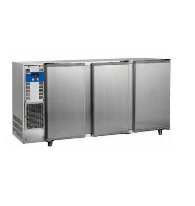 Diamond Getränkekühlschrank | 3 Türen | Edelstahl | 579Liter | 2065x565x(h)890-905mm