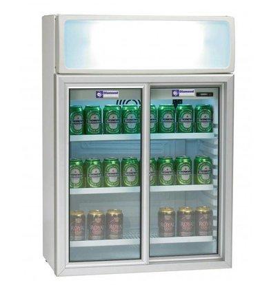 Diamond Kühlschrank | 100 Liter | 2 Glasschiebetüren | 650x390x(h)930mm