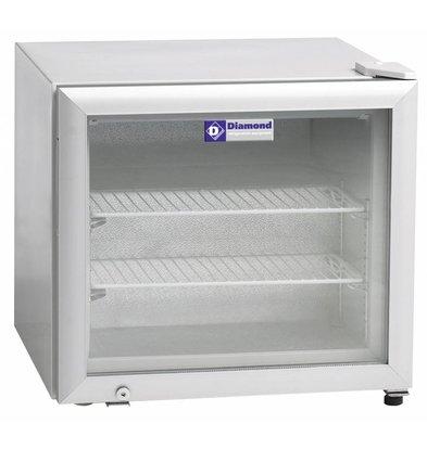 Diamond Tiefkühlschrank | 50 Liter | 2 Roste | 570x530x(h)520mm