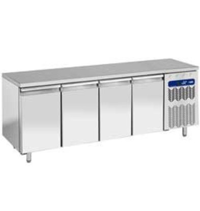 Diamond Tiefkühltisch   4 Türen   Temperatur: -10°C-20°C   2558x800x(h)880-900mm