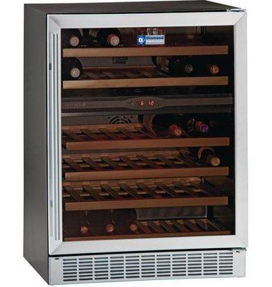Diamond Weinkühlschrank | Umluft | 160 Liter | 2 Temperaturen | 595x570x(h)820mm