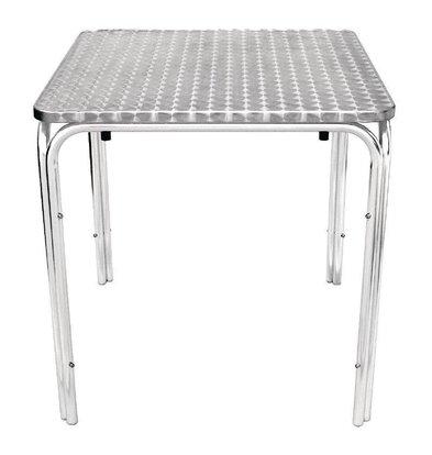 Bolero Viereckiger Bistrotisch | 72 x 70 x 70cm | 4 Beine | Edelstahl/Aluminium