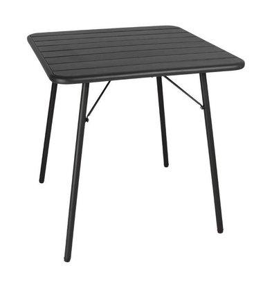 Bolero Bolero Bistrotisch Schwarz | Puderbeschichteter Stahl | 700x700x(h)710mm