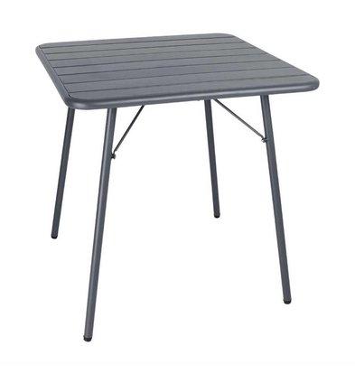 Bolero Bolero Bistrotisch Grau | Puderbeschichteter Stahl | 700x700x(h)710mm