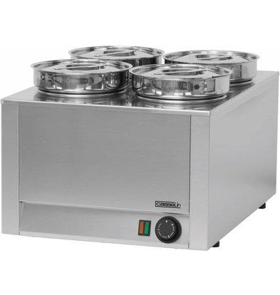 Casselin Elektro Bain-Marie Hotpot | 4x Topf 4,5 Liter | 450x600x(h)350mm