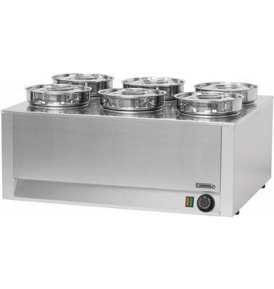 Casselin Elektro Bain-Marie Hotpot | 6x Topf 4,5 Liter | 750x600x(h)350mm