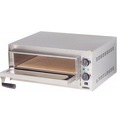 Casselin Elektro-Pizzaofen Edelstahl | 230V-2000W | 570x470x(h)250mm