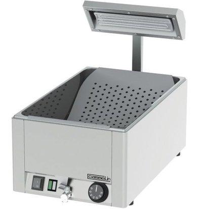 Casselin Pommeswärmer mit Auslaufhahn | 1/1GN | 230V-1200W | 330x540x(h)500mm