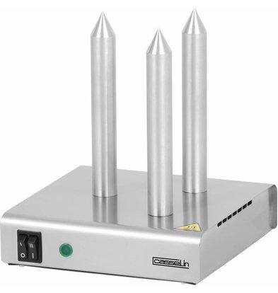 Casselin Brotwarmer Edelstahl | 3 Heizstangen | 220x220x(h)250mm