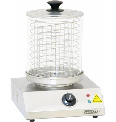 Casselin Wurstwärmer Edelstahl | 230V-800W | bis tot 100°C | 280x280(h)355mm