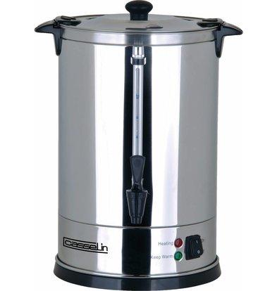 Casselin Perkolator Edelstahl | Doppelwandig | Keine Filter notwendig | 15 Liter | 100-110 Tassen | Ø270x(h)440mm