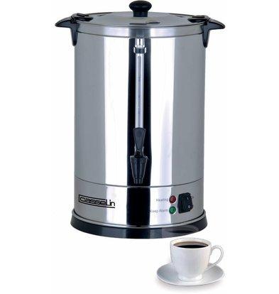 Casselin Perkolator Edelstahl | Doppelwandig | Keine Filter notwendig | 6,8 Liter | 48 Tassen | Ø270x(h)370mm
