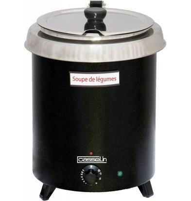 Casselin Suppenkessel mit Edelstahl Behälter | Thermobeschichtung | 8,5 Liter