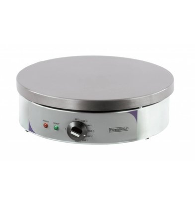 Casselin Elektro Crêpesgerät | Ø400mm | 230V-2,7kW | Thermostat regelbar 60°C bis 300°C