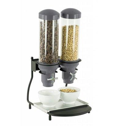 Casselin Cerealienspender | 2x Behälter je Liter | 300x390x(h)640mm