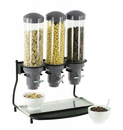 Casselin Cerealienspender | 3x Behälter je Liter | 460x390x(h)640mm