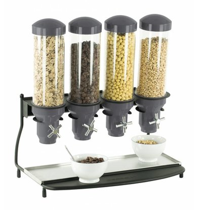 Casselin Cerealienspender | 4x Behälter je 3 Liter | 600x390x640(h)mm