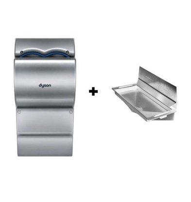 Dyson Set Dyson Airblade AB14 Händetrockner Grau | Wasserauffang mit Wandschutz