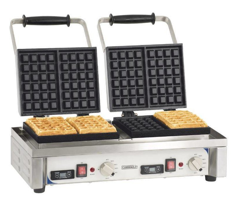 Casselin Doppeltes Waffeleisen | 230V-3200W | 566x415x(h)290mm