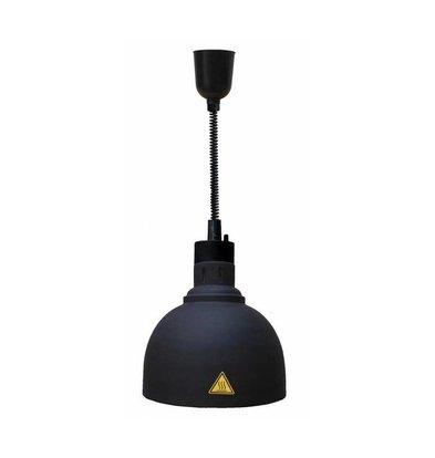 Combisteel Wärmelampe Schwarz | Kabel Verstellbar | Ø240x(h)600/1800mm