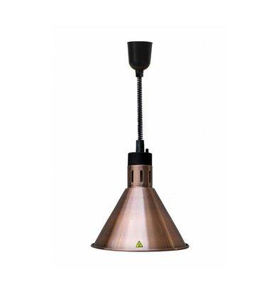 Combisteel Wärmelampe Bronze | Kabel Verstellbar | Ø275x(h)600/1800mm