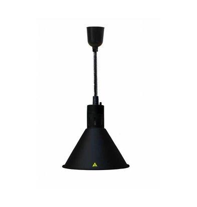 Combisteel Wärmelampe Schwarz | Kabel Verstellbar | Ø275x(h)600/1800mm