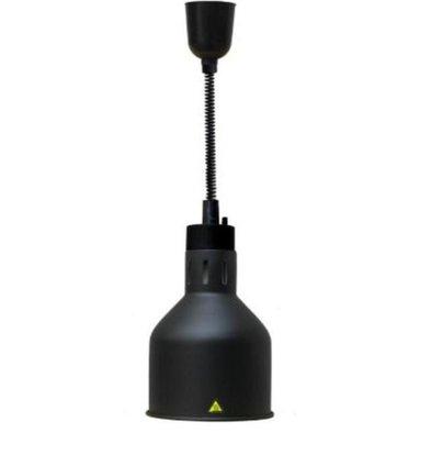 Combisteel Wärmelampe Schwarz | Kabel verstellbar | Ø175x(h)600/1800mm