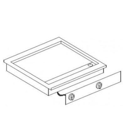 Combisteel Drop-In Grillplatte glatt Chrom | 400V-7kW | 625x600x(h)181mm