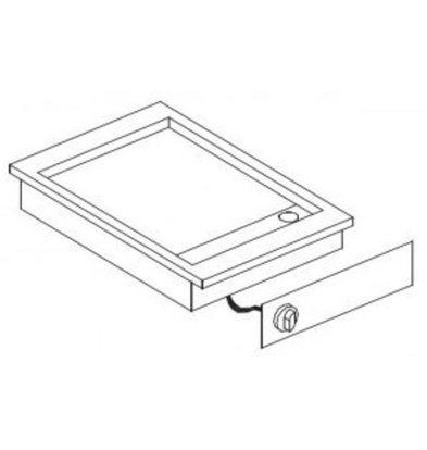Combisteel Drop-In Grillplatte glatt Chrom | 400V-3,9kW | 425x600x(h)181mm